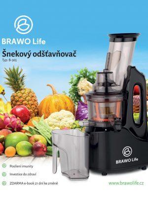 Šnekový odšťavňovač BRAWO Life B-365