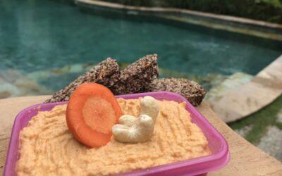 RAW mrkvová pomazánka zo štyroch ingrediencií hotová za 5 minút