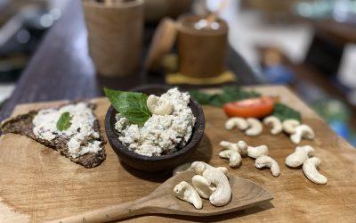 Fermentovaný kešu syr bez probiotických kapslí /nátierkový/